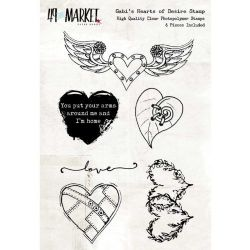 "49 & Market Clear Stamps 4""X6"" - Gabi's Hearts Of Desire"